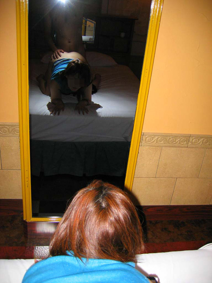 鏡越しセックス 画像 74