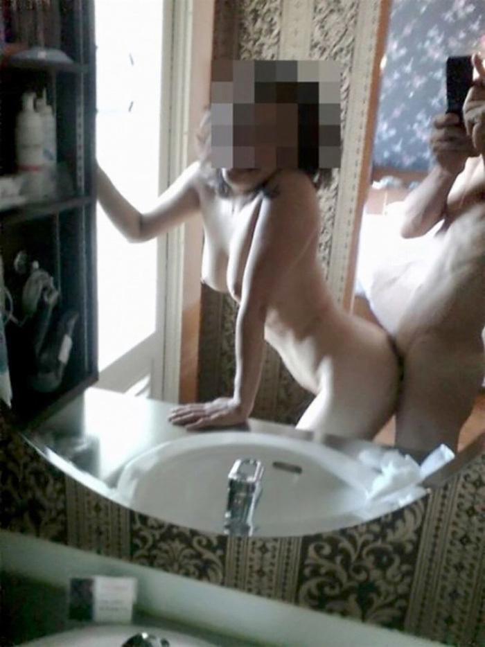 鏡越しセックス 画像 9