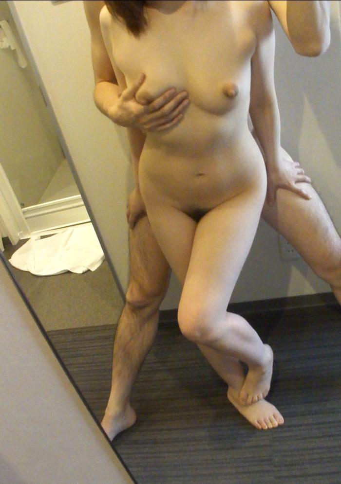 鏡越しセックス 画像 96