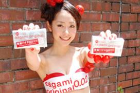 「サガミオリジナル」の宣伝大使にあの女子アナではなく谷桃子