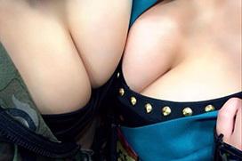 誰もが好物な巨乳の胸の谷間画像 part46