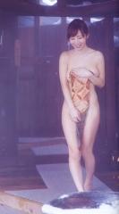 塩地美澄アナタオル一枚入浴画像1
