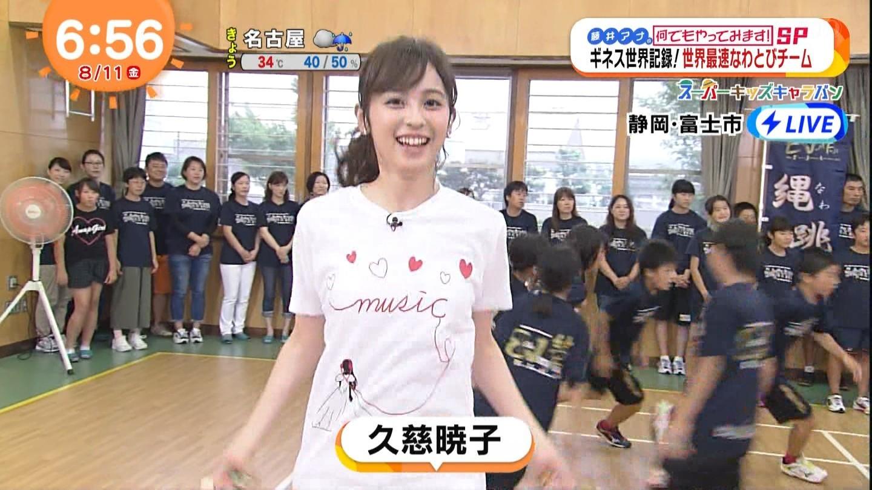 """""""クジパン""""こと久慈暁子アナのお尻にパン線クッキリ!!wwwwwwww"""