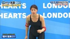 稲村亜美ロンハー水泳2017谷間画像5