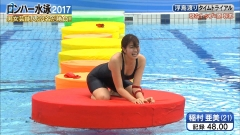 稲村亜美ロンハー水泳2017谷間画像8