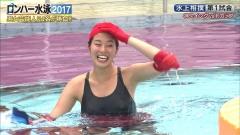 稲村亜美ロンハー水泳2017谷間画像10