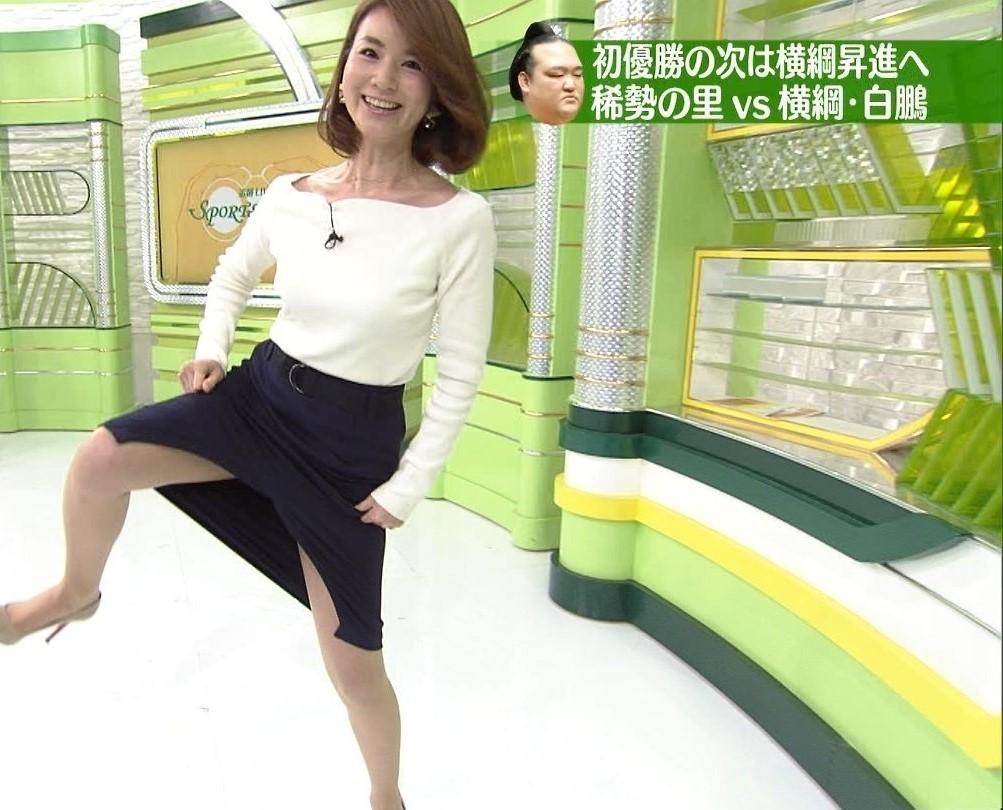 秋元玲奈アナがTVでシコ4
