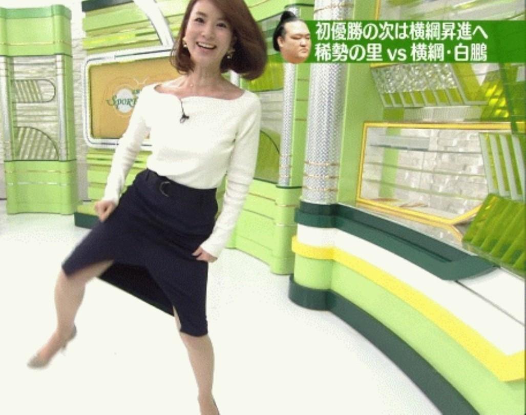秋元玲奈アナがTVでシコ6