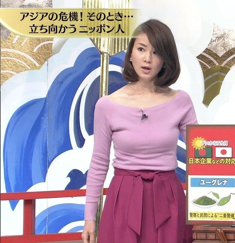 秋元玲奈アナの発情おっぱい1