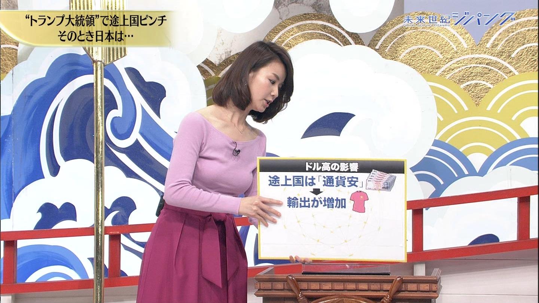 秋元玲奈アナの発情おっぱい7