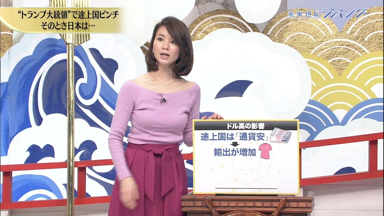 秋元玲奈アナの発情おっぱい8