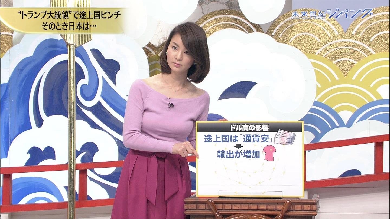 秋元玲奈アナの発情おっぱい9