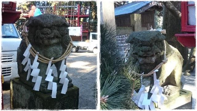 羽黒山神社。狛犬3