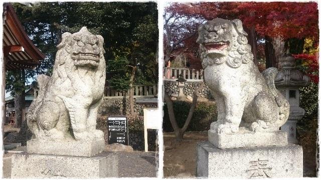 下野國一社八幡宮・狛犬1