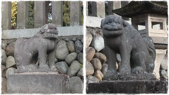 下野國一社八幡宮・狛犬2