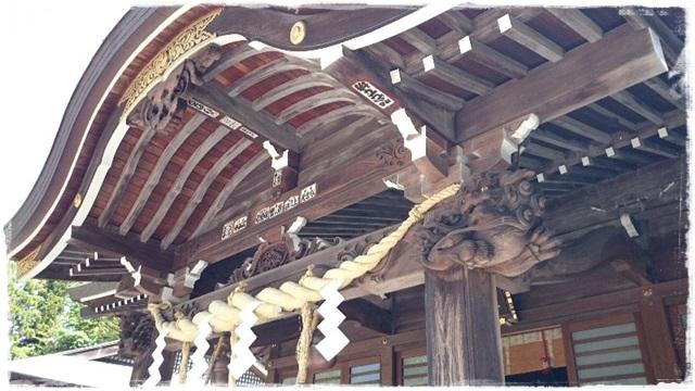 神峰神社・拝殿
