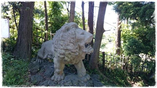 神峰神社・獅子