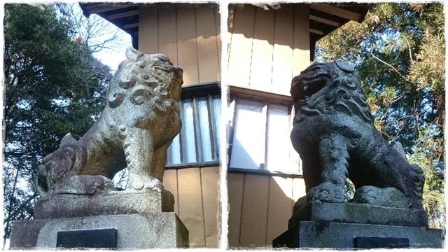 大前神社本殿・狛犬