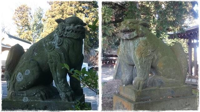 朝日森天満宮・狛犬1