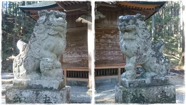 賀蘇山神社・本殿狛犬