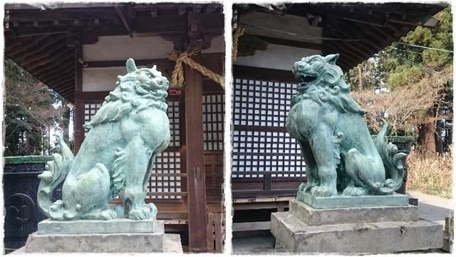 磯山神社狛犬1
