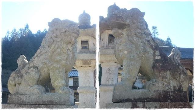 加蘇山神社・拝殿側狛犬