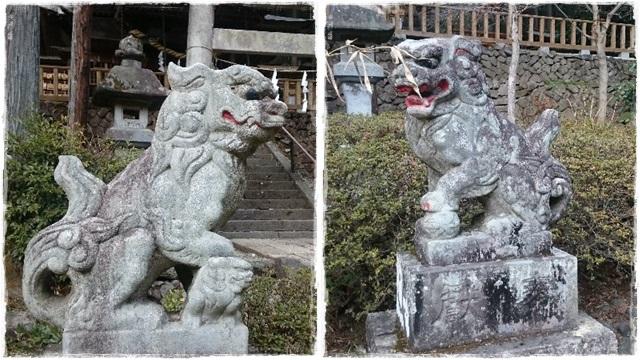 高靇神社狛犬1