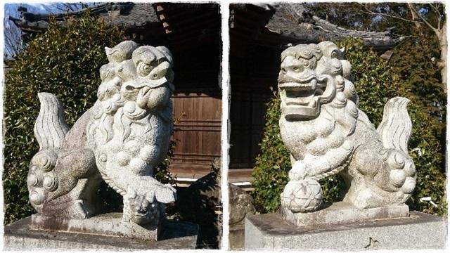 網戸神社狛犬1