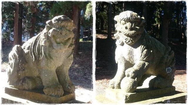 大宮温泉神社・狛犬1