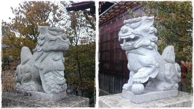 鹿島神社・境内社八坂神社狛犬