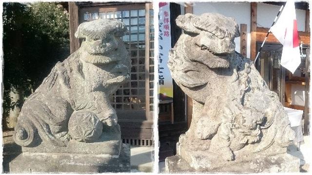 祖母井神社・狛犬
