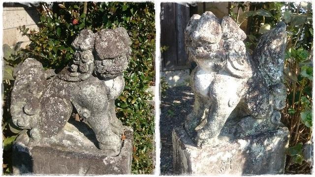 磐裂根裂神社・境内社狛犬