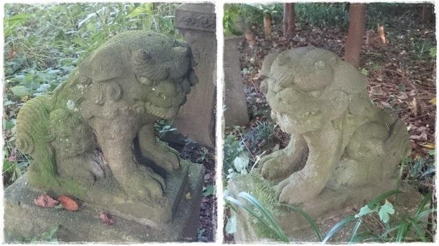 雄琴神社・境内社狛犬