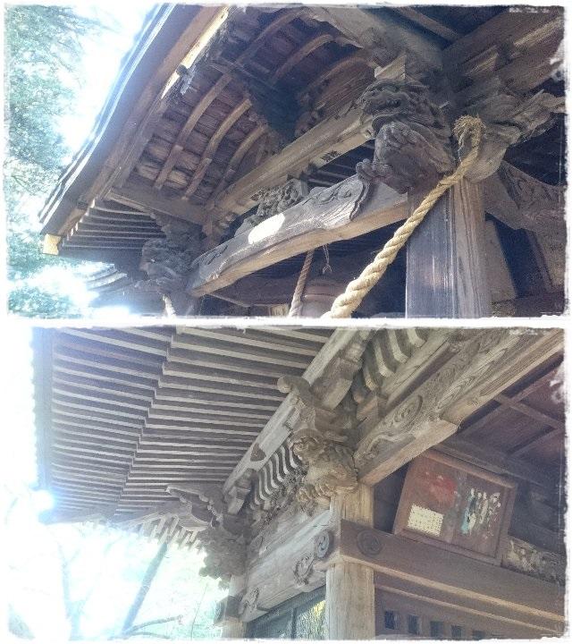 雄琴神社・拝殿・随神門