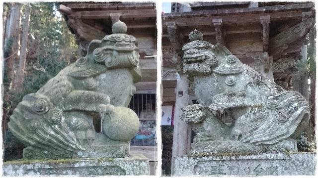 鷲子山上神社・狛犬