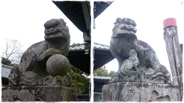 雷電神社・狛犬1
