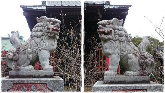 雷電神社・奥宮狛犬