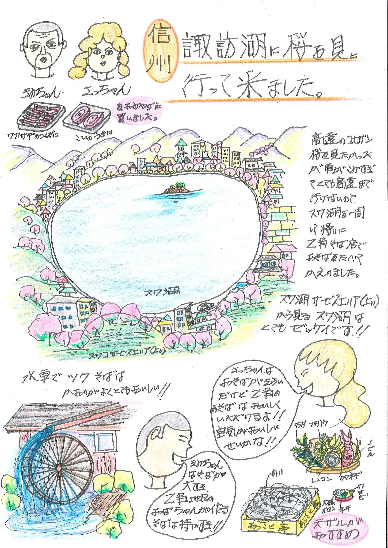諏訪湖・桜