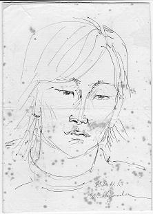 西表島時代の似顔絵