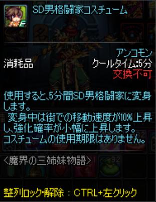 SD男格闘に変身