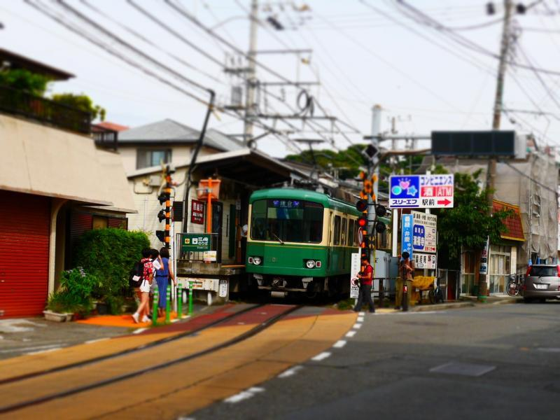 駅の江ノ電