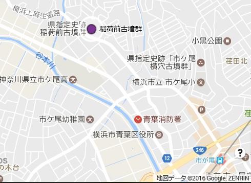 稲荷前古墳群地図