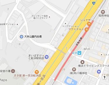 大井公園内古墳地図