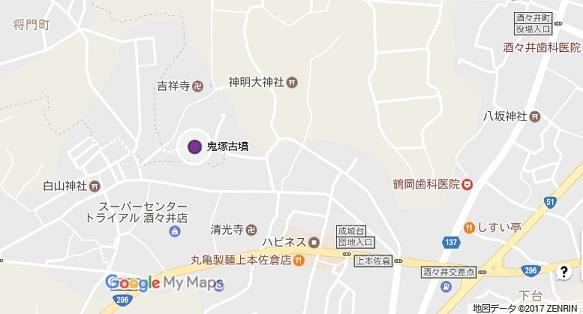 鬼塚古墳地図