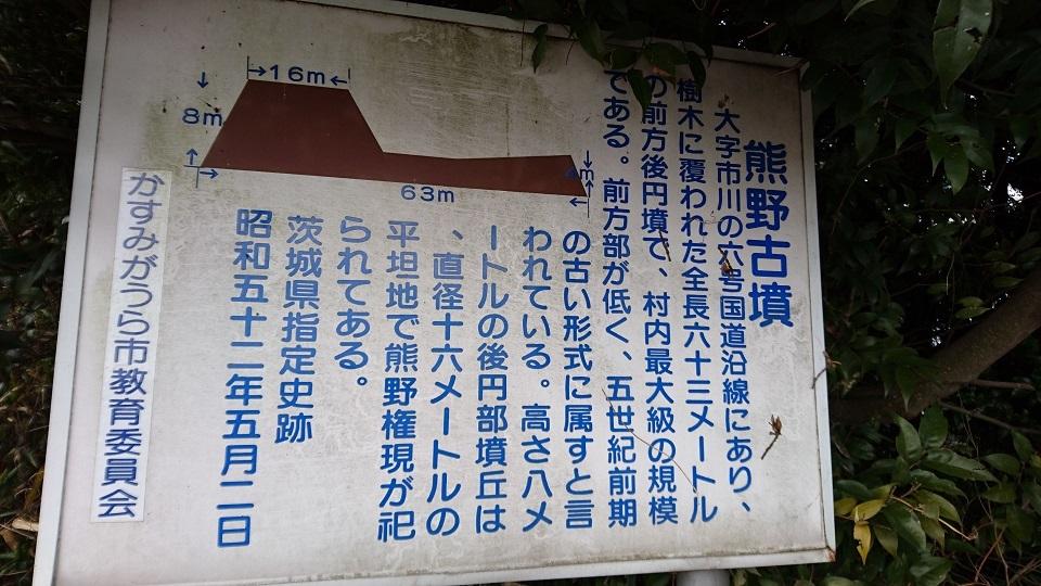 熊野古墳解説板