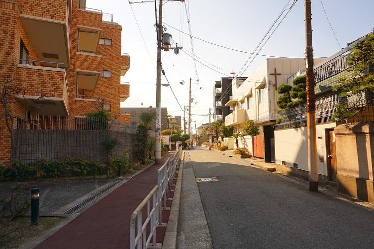 帝塚山の南方向を望む