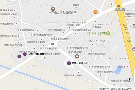 赤塚古墳群地図