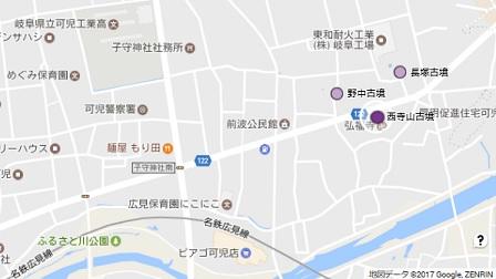 西寺山古墳地図