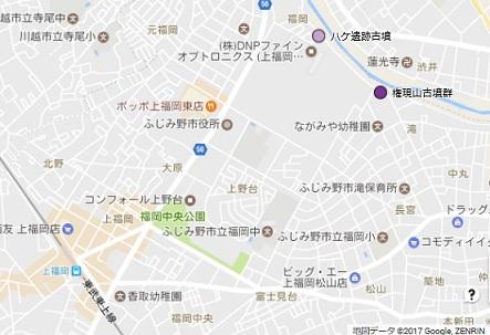 権現山古墳群地図