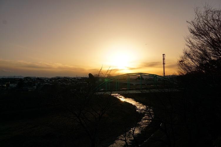 あきる野平井川夕景